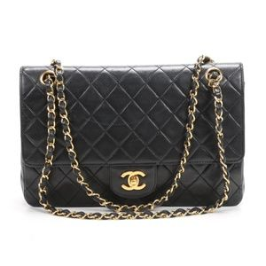 Chanel Classic Black Quilted Double Flap Bag